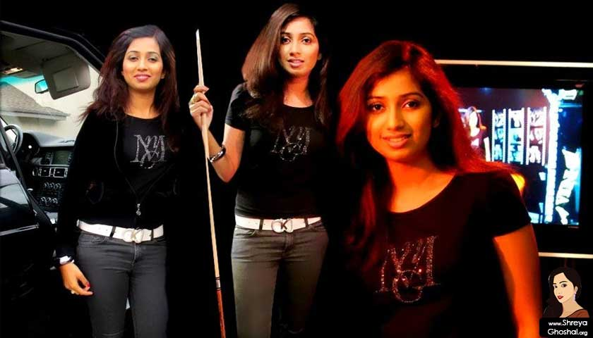 Shreya Ghoshal in real black