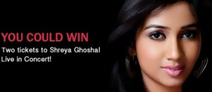 Win 2 tickets for Shreya Ghoshal concert