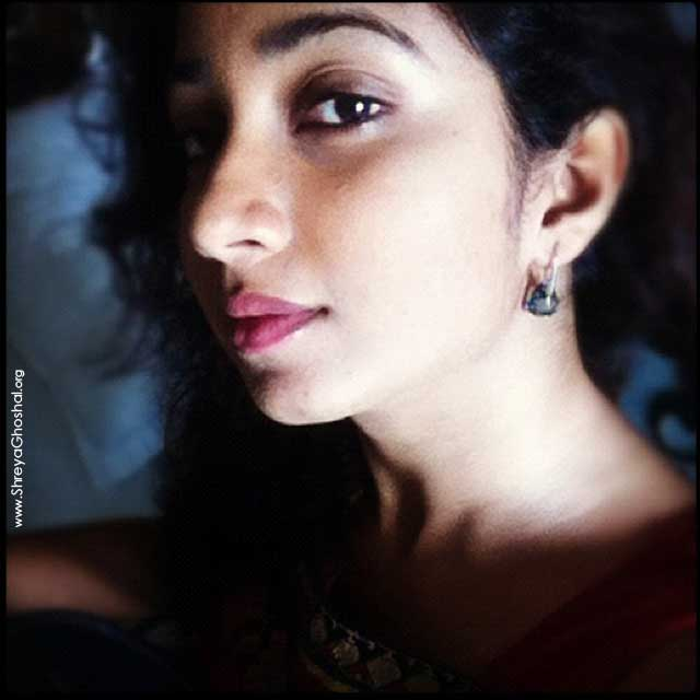 clicked by Shreya Ghoshal - Wearing the swarovski crystals