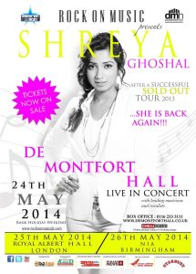 Shreya Ghoshal Live in UK