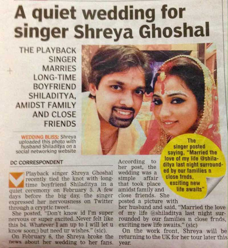 shreya ghoshal husband name wwwimgkidcom the image