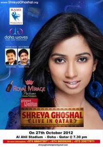 Shreya Ghoshal live in Qatar
