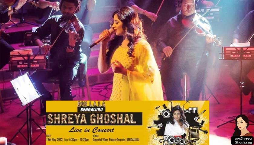 Shreya Ghoshal live in concert – Bangalore 2012
