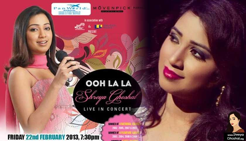 Shreya Ghoshal live in Manukau City