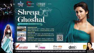 Shreya Ghoshal live concerts uk