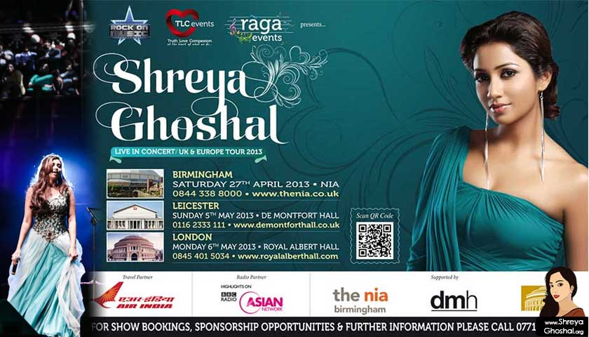 Shreya Ghoshal live concerts uk