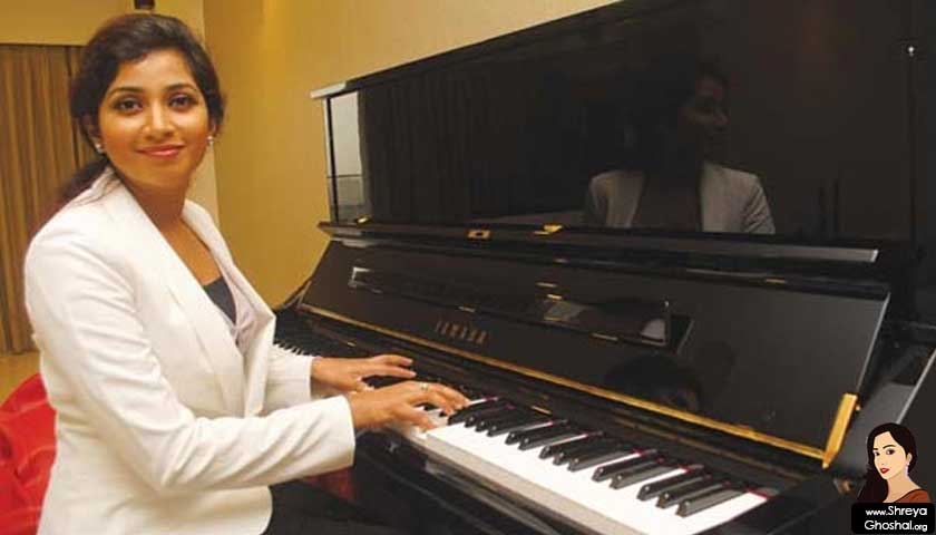Shreya Ghoshal and the piano