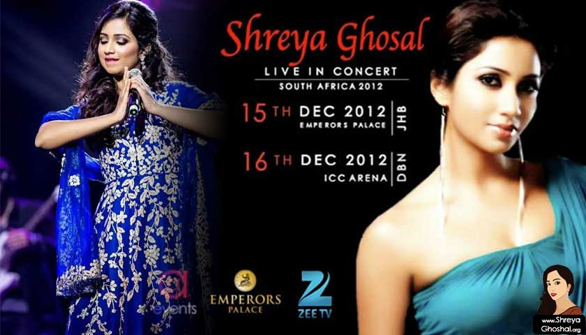 Shreya Ghoshal – South Africa