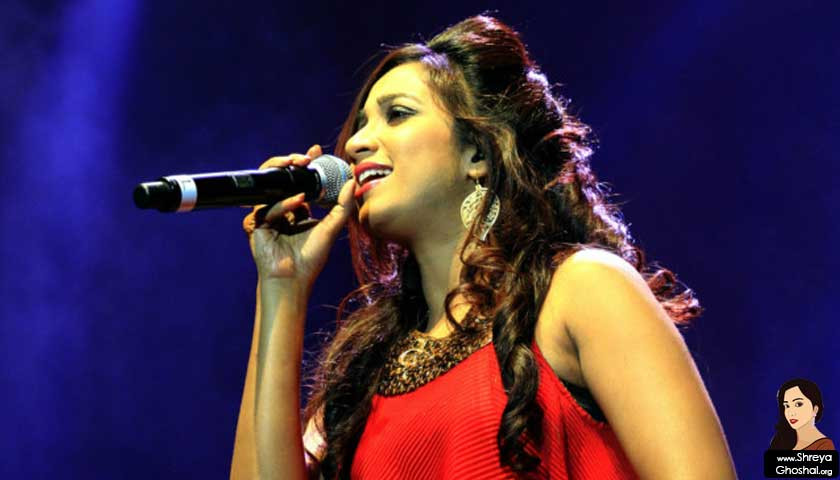 Shreya Ghoshal wears red