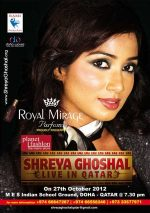 Shreya Ghoshal live in Qatar