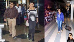 shreya ghoshal at airport