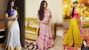 Shreya Ghoshal is in a nice sari