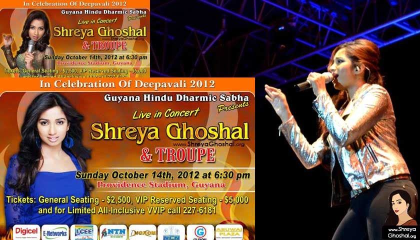 Shreya Ghoshal – Live in concert Guyana