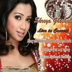 Shreya Ghoshal arrives today for mega concert tonight!