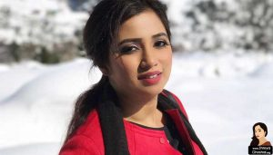 shreya ghoshal in red