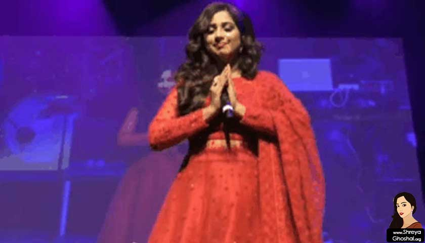 shreya ghoshal, namaste