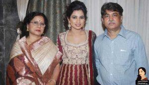 Shreya Ghoshal father Bishwajit, mother, Sarmistha