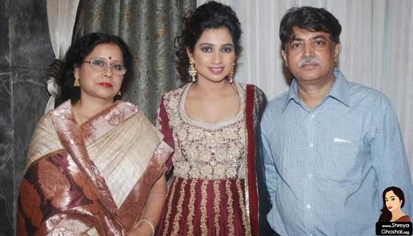 Shreya Ghoshal father Bishwajit, mother, Sarmistha