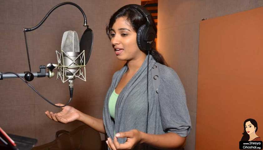 Shreya Ghoshal, Teen Kaniya Song Recording