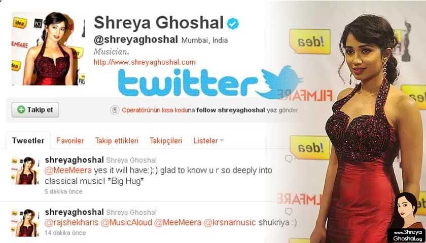 shreya ghoshal twitter