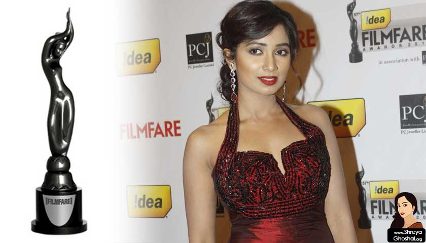 The Filmfare Awards, shreya ghoshal