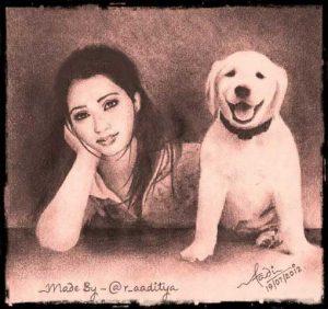 shreya & sherlock drawing