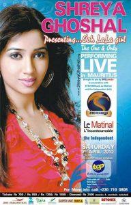 Shreya Ghoshal – Live in Mauritius