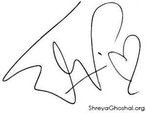 Shreya Ghoshal signature
