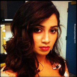 clicked by Shreya Ghoshal - backstage in Chicago