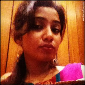 clicked by Shreya Ghoshal - in the studio