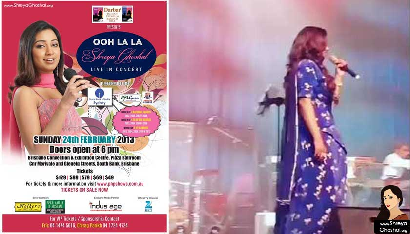 Shreya Ghoshal concert in Brisbane