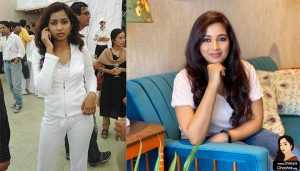 Shreya Ghoshal is wearing sports