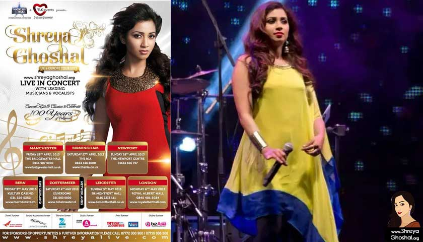 Shreya Ghoshal Uk & Europe Tour 2013