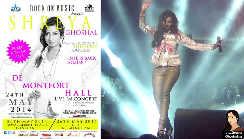 Shreya Ghoshal Live in UK 2014