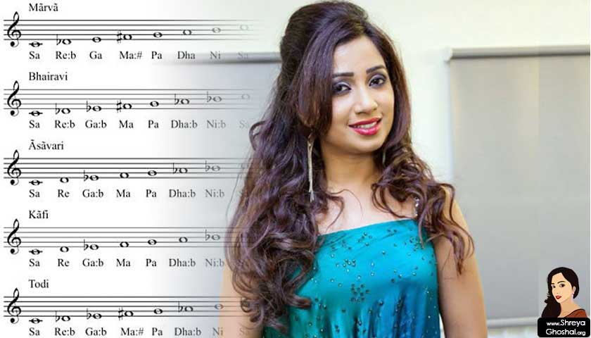 shreya ghoshal, Indian ragas