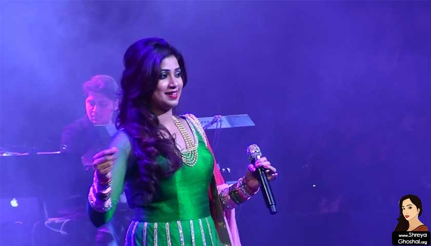 shreya ghoshal, nabc 2015